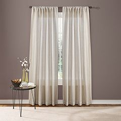 Custom Home Textured Stripe Window Curtain