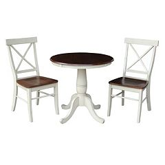 International Concepts 30' Round Dining 3 pc Set