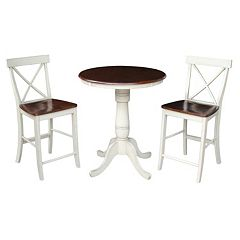 International Concepts 36' Tall Dining 3-piece Set