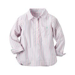 Girls 4-8 Carter's Pink Striped Woven Shirt
