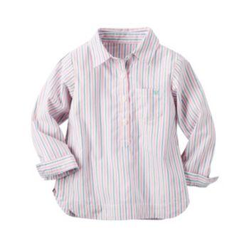 Girls 4-8 Carter's Pink Striped Woven Shirt
