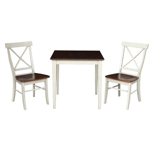 "International Concepts 30"" x 30"" Dining 3-piece Set"