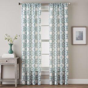 CHF 1-Panel Lotus Harmony Print Window Curtain