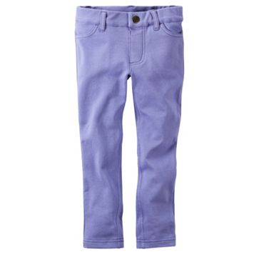 Girls 4-8 Carter's Purple French Terry Jeggings