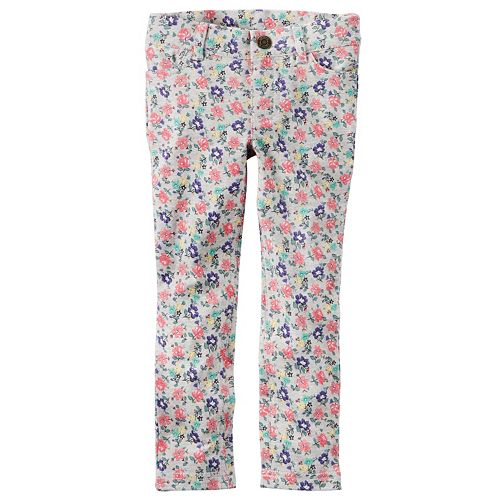 d0d6aaa389053 Girls 4-8 Carter's Floral French Terry Jeggings