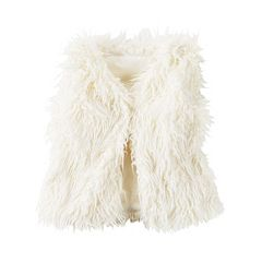 Girls 4-8 Carter's Ivory Faux-Fur Vest