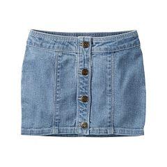 Girls 4-8 Carter's Button-Front Jean Skirt