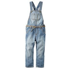 Girls 4-8 Carter's Denim Overalls with Belt