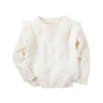 Girls 4-8 Carter's Fringe Sweater