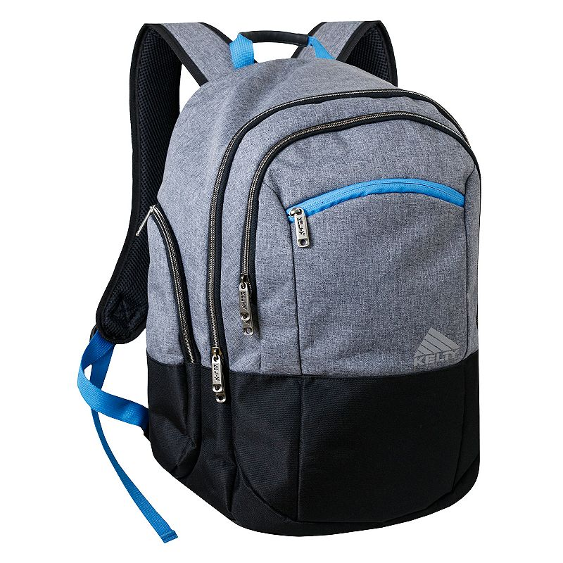 Kelty Latitude Laptop Backpack, Grey For a long commute, business trip or new adventure, this Kelty backpack has plenty of conveniences for your on-the-go lifestyle. Dual-blend polyester construction for long-lasting use 2 interior zip compartments for organizing your gear 5 convenient exterior compartments for quick access Padded laptop sleeve holds up to a 17-inch laptop Water-resistant bottom keeps contents dry Padded back and adjustable shoulder straps for comfortable carrying 19 H x 13 W x 8 D Weight: 1.75 lbs. Polyester Zipper closure Model no. 6816 Size: One size. Color: Grey. Gender: Unisex.