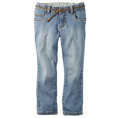Girls 4-8 Carter's Jeans with Braided Belt