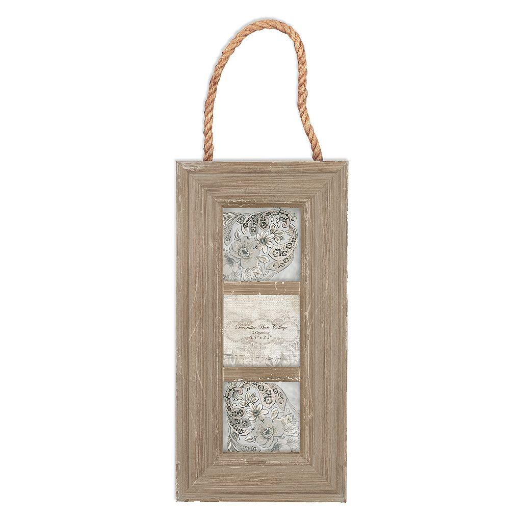 Belle Maison 3-Opening Rope Collage Frame