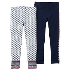 Girls 4-8 Carter's 2 pkSolid & Paisley Pattern Leggings Set