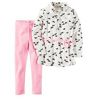 Girls 4-8 Carter's Horse Print Poplin Tunic & Leggings Set