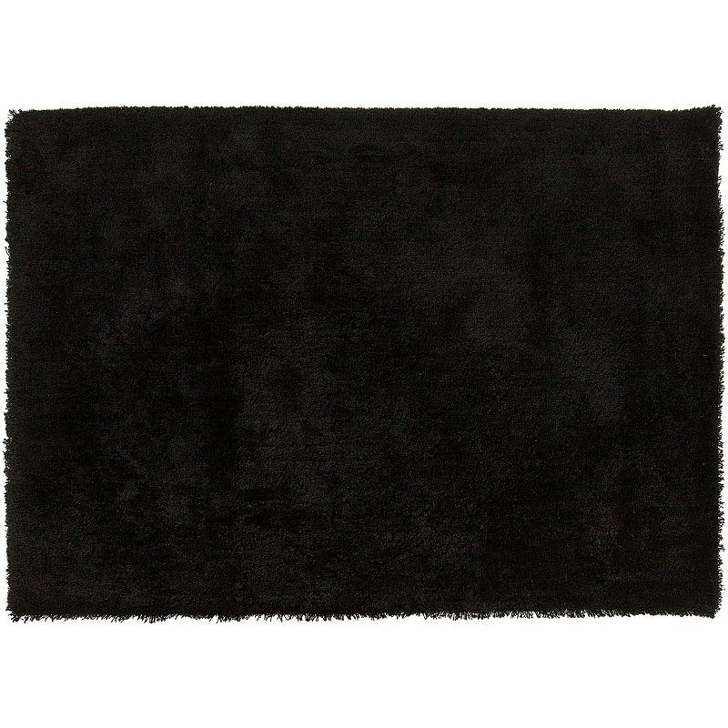 Decor 140 Viniani Solid Shag Rug, Black, 8X11 Ft