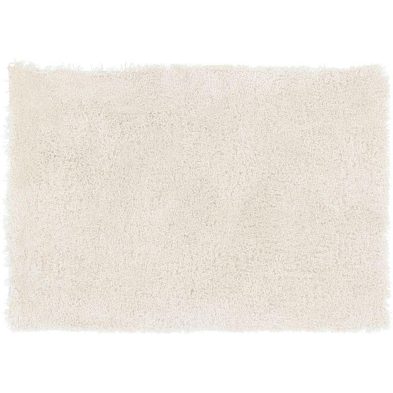 Decor 140 Viniani Solid Shag Rug, White, 8Ft Rnd