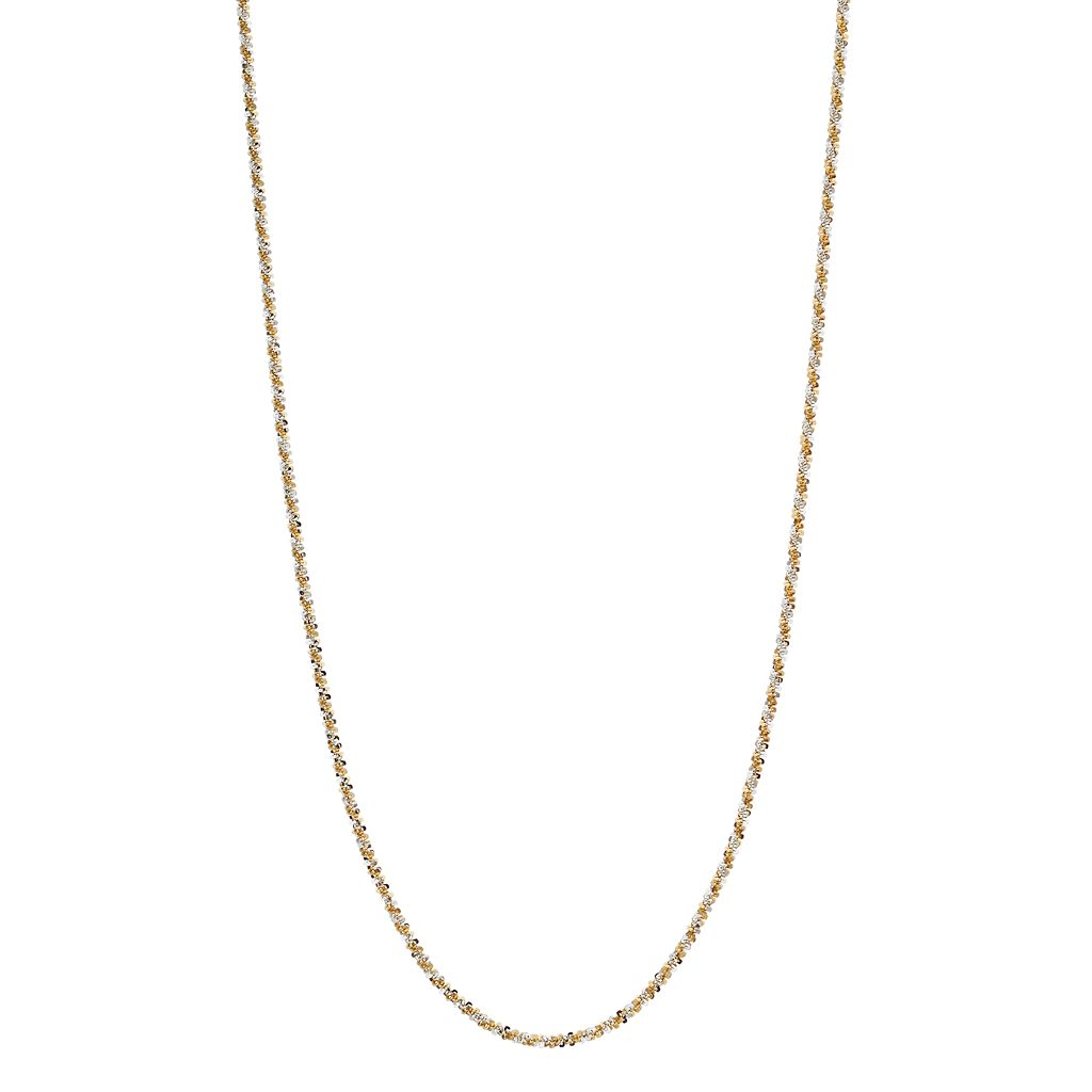 24k Gold Over Silver Twist Chain Necklace
