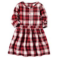 Girls 4-8 Carter's Tab Sleeve Plaid Dress