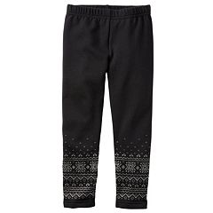 Girls 4-8 Carter's Fleece Leggings