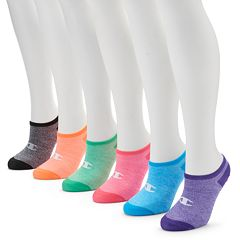 Women's Champion 6 pkRainbow No Show Socks