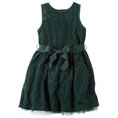 Girls 4-8 Carter's Green Lace Dress