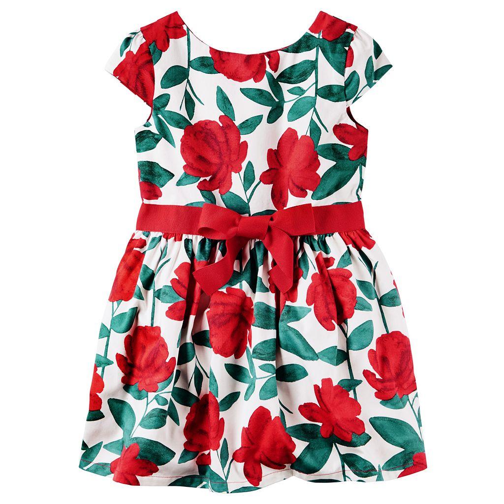 Girls 4-8 Carter's Red Floral Dress