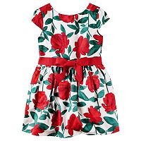 Girls 4-8 Carter's Red Floral Dress