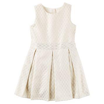 Girls 4-8 Carter's Jacquard Pleated Dress