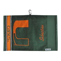 Team Effort Miami Hurricanes Jacquard Towel