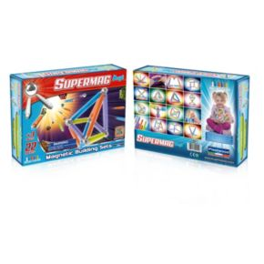 Supermag Maxi 22-pc. Neon Magnetic Building Set
