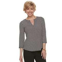 Women's Dana Buchman Knit Henley Top