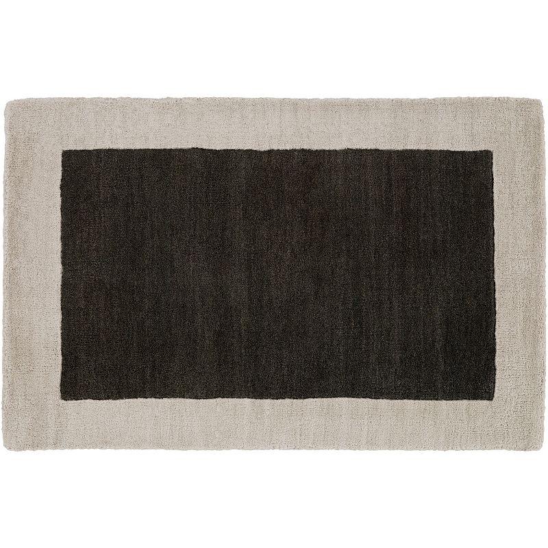 Decor 140 Hartford Framed Wool Rug, Black, 2X3 Ft