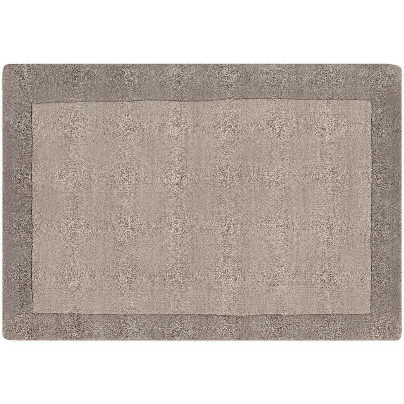 Decor 140 Hartford Framed Wool Rug, Grey, 8X10 Ft