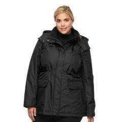 Plus Size Croft & Barrow¨ Hooded Anorak Rain Jacket