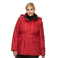 Plus Size Croft & Barrow¨ Hooded Anorak Rain Jacket