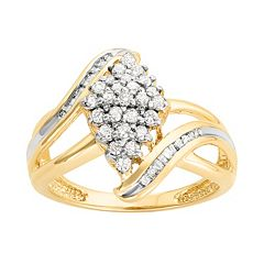 10k Gold 1/2 Carat T.W. Diamond Kite Ring