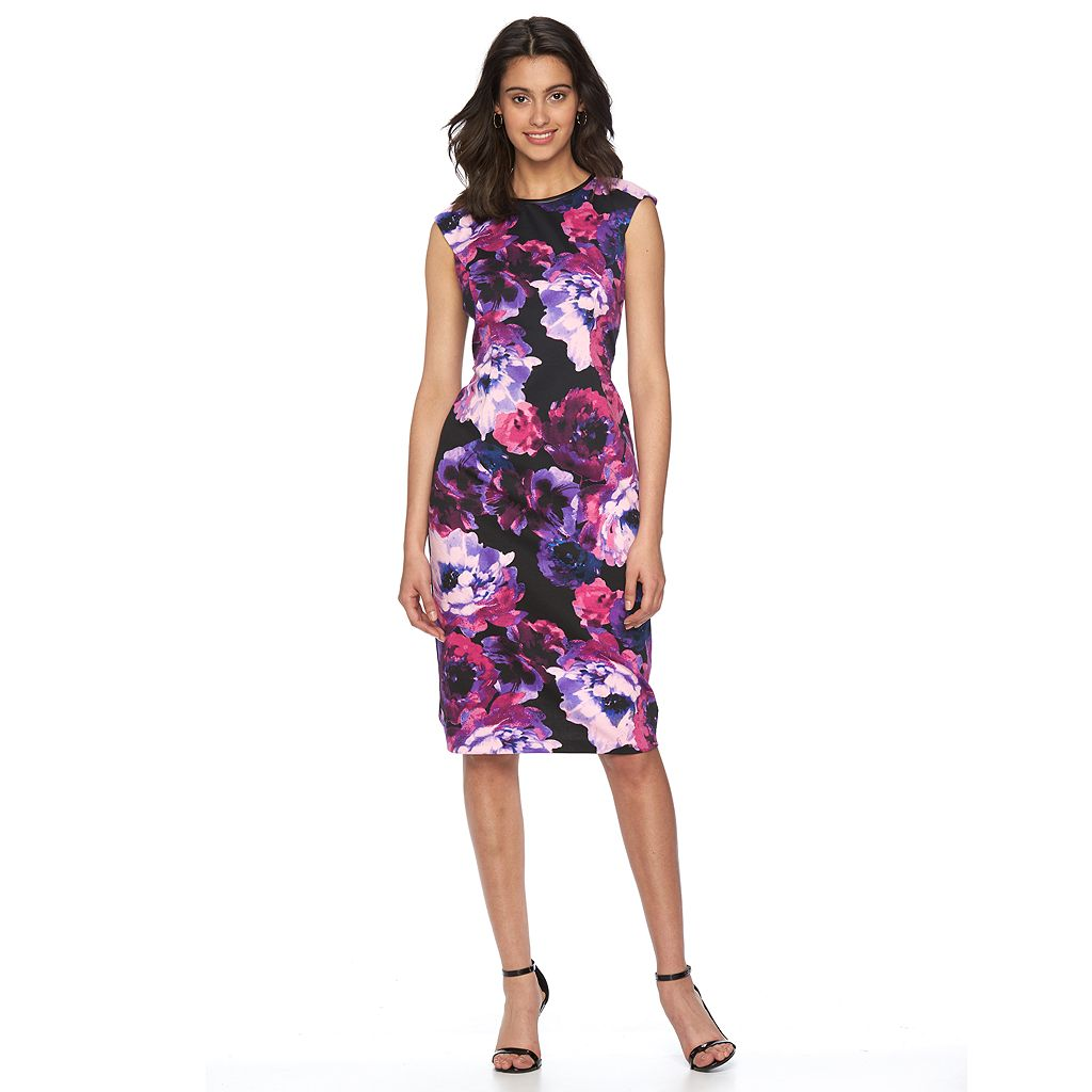 Petite Suite 7 Floral Sheath Dress