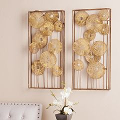 Allen Rectangular Fl Metal Wall Art 2 Piece Set