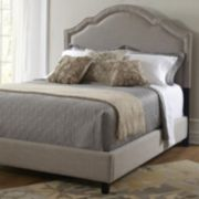 Pulaski Shaped Nailhead Upholstered Bed