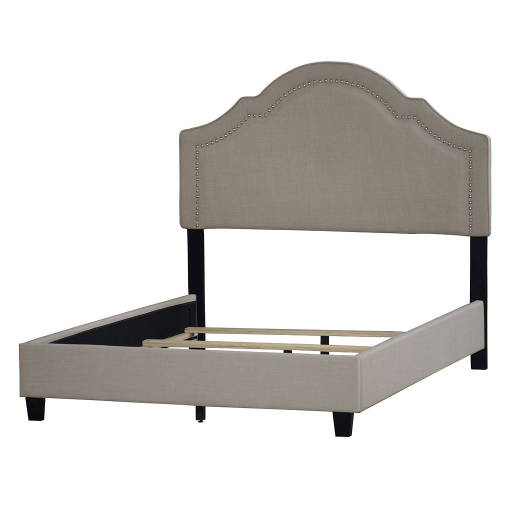 Pulaski Shaped Nailhead Upholstered Bed