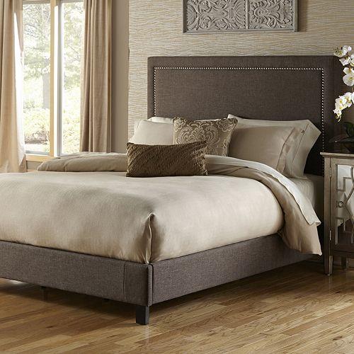 Pulaski Square Nailhead Upholstered Bed