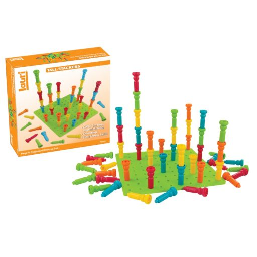LAURI Deluxe Tall-Stacker Pegs & Pegboard Set