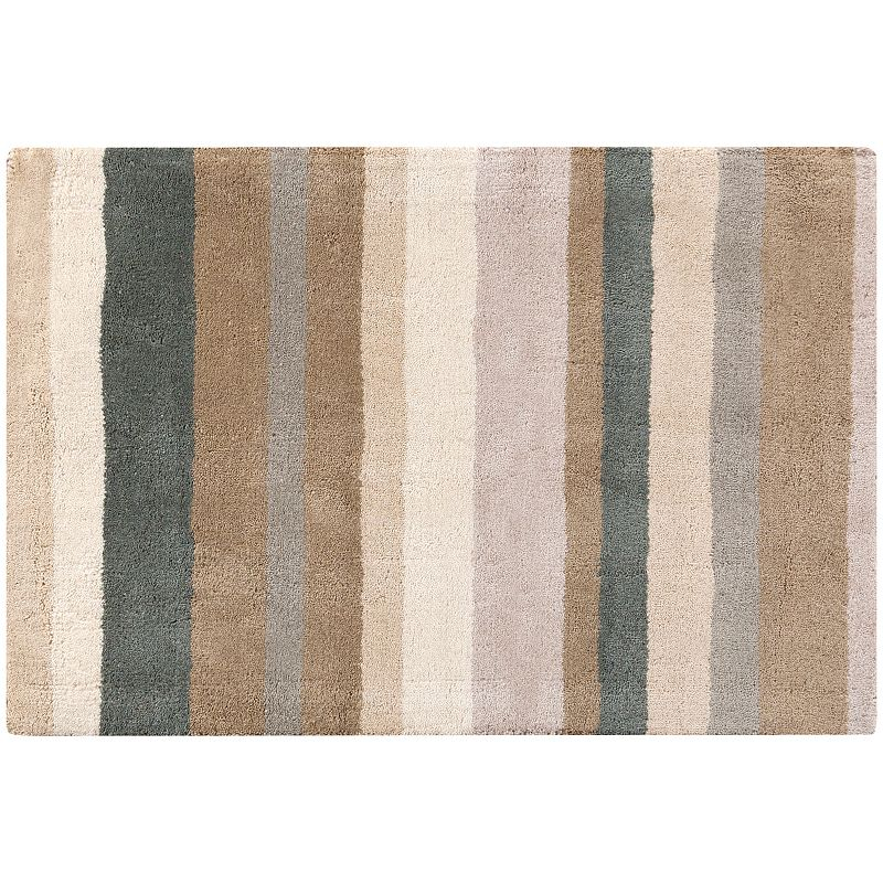 Decor 140 Tamworth Stripes Wool Rug, Beig/Green, 8X10 Ft