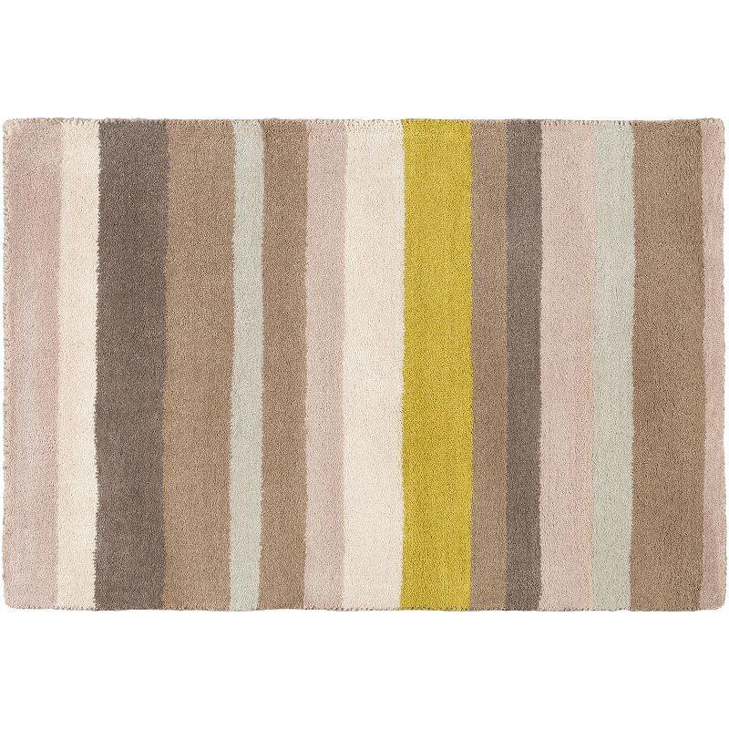 Decor 140 Tamworth Stripes Wool Rug, Brown, 2.5X8 Ft