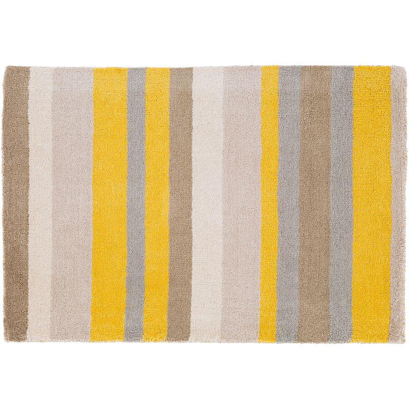 Decor 140 Tamworth Stripes Wool Rug, Gold, 2.5X8 Ft