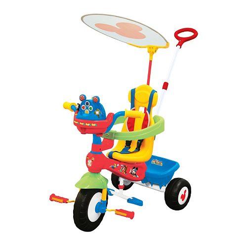 Disney's Mickey Mouse Push N' Ride Trike by Kiddieland