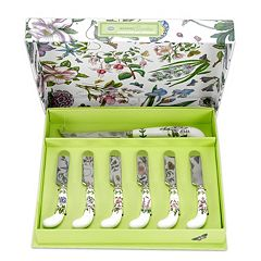 Portmeirion Botanic Garden 7 pc Cheese Knife & Spreader Set