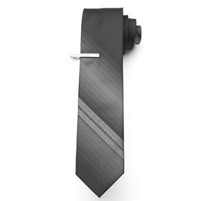 Van Heusen Patterned Tie With Tie Bar - Men
