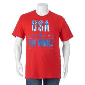 """Big & Tall """"USA Vs. The World"""" Tee"""