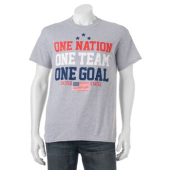 "Big & Tall  ""One Nation One Team One Goal"" USA Tee"